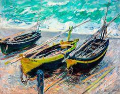 Monet 1886, Three Fishing Boats, Canvas Print, Fade Resistant HD Print or Canvas in Art, Prints   eBay