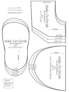 Risultati immagini per molde gratis sapatinho da nanda Doll Shoe Patterns, Baby Patterns, Sewing Patterns, Baby Doll Shoes, Soft Baby Shoes, Baby Boots Pattern, Baby Shoes Tutorial, Baby Shoe Sizes, Baby Sewing Projects