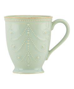 Look what I found on #zulily! Ice Blue French Perle Mug #zulilyfinds