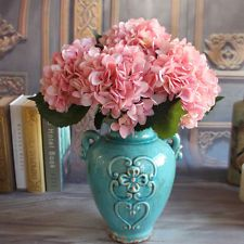 Pink French 1 Bouquet Artificial Silk Peony Flower Hydrangea Home Decor