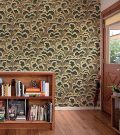 makelike (a shop) Lush Wallpaper : Dark Grey