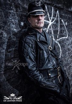 Close up of LthrKerl at #UKLeatherPride photoshoot 2015. Pic by Neil Z Page. #LeatherPride #LeatherBristol