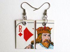 """Ohrringe """"Roi de carreau"""" von Je vais en découdre auf DaWanda.com"""