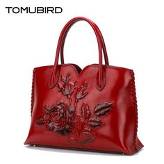 TOMUBIRD 2017 new superior genuine leather designer brand women bags fashion Embossed rose Real leather Luxury handbags