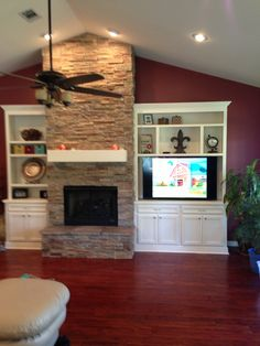 10 Superb Tips AND Tricks: Contemporary Fireplace Decks fireplace living room layout.Fake Log Burner Fireplace black fireplace with tv above.Fireplace With Tv Above Window Seats. Fireplace Tv Wall, Fireplace Bookshelves, Fireplace Furniture, Fireplace Built Ins, Shiplap Fireplace, Fireplace Remodel, Fireplace Surrounds, Fireplace Design, Fireplace Ideas