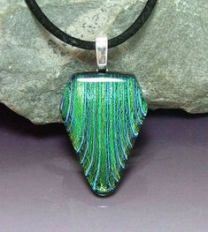 Fused Glass Ideas | Dichroic Fused Glass Pendant - Delphi Stained Glass