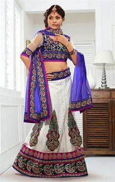Picture of Pleasing off White Indian Wedding Lehenga Choli