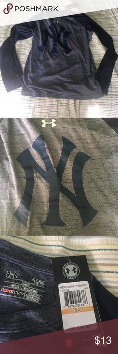 Under Armour/New York Yankee Shirt Size small. Normally 35$. Long sleeve and great quality. Open to offers Under Armour Shirts Tees - Long Sleeve