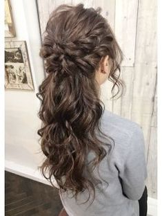 Fluffy Half Up Source by Open Hairstyles, Party Hairstyles, Bride Hairstyles, Wedding Guest Hairstyles Long, Wedding Hair And Makeup, Bridal Hair, Hair Makeup, Beauty Tips For Hair, Hair Beauty