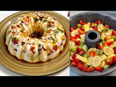 FABULOUS DESSERT IN 5 MINUTES to do immediately! ASMR # 162 - YouTube Kinds Of Desserts, Cold Desserts, No Bake Desserts, Custard Recipes, Cake Recipes, Dessert Recipes, Persian Desserts, Flan Dessert, A Food