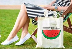 Watermelon Designs, Reusable Tote Bags, Etsy Shop, Trending Outfits, Unique Jewelry, Handmade Gifts, Check, Cotton, Shopping