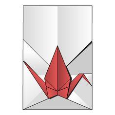 Origami Diagram: Crane Envelope