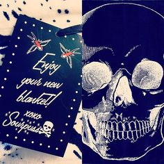 Came home to a present from the fiance  one of my favorite brands, just because  @sourpussclothing LOVE IT. Skull blanket. Thanks honey xo. #sourpuss #sourpussclothing #inkedshop #skulls #blanket #love #instacool #instapic #instagood #collections #halloween #horror #horrorgirl #addict #present #gift