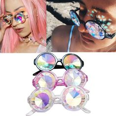 2016 Fashion Retro Round Kaleidoscope Sunglasses Men and Women