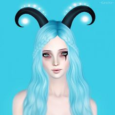 Glowing horns by Kanoya - Sims 3 Downloads CC Caboodle