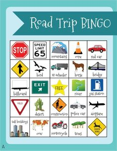 Love this free printable for travel bingo--it has five different versions so each of your children can have a unique bingo card--that way they won't get their bingos at the same time!