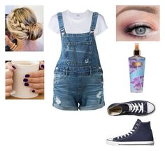"""""""Untitled #91"""" by anime-queen123 on Polyvore featuring RE/DONE, Guild Prime, Converse and Victoria's Secret"""
