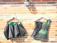 Corpiño con tela degradada y falda