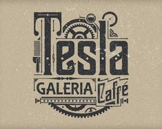 Tesla  by tomekbiernat - Vintage/Retro Logo - logopond.com - #logo # design