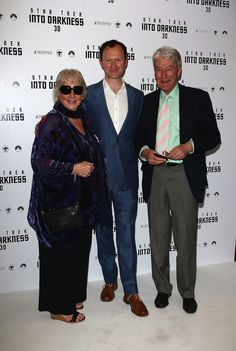 Benedict Cumberbatch's parents Wanda Ventham & Timothy Carlton - & with Mark Gatiss -at the UK Premiere ofStar Trek Into Darknesson May 2, 2013 in London.