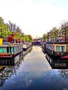 Schuitendiep Groningen vanaf de Sint Jansbrug