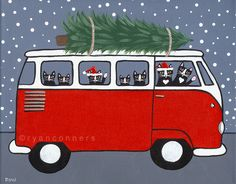 Red VW Christmas Bus | Flickr - Photo Sharing!