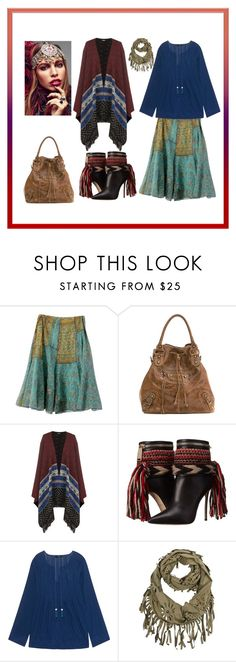 """""""a little bit of gypsy girl"""" by miracle-child-1 ❤ liked on Polyvore featuring Mila Blu, WearAll, Dsquared2, Steffen Schraut and Rock 'N Rose"""