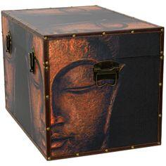 "Buddha Storage Trunk - 24""W x 16""D x 16""H - OrientalFurniture.com"