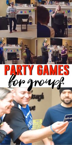 Awesome party games for adults, teens, or for adults (without the drinking! Great for birthday parties, Christmas, or for a family reunion! Funny group games that everyone will love! games for adults Funny Games For Groups, Games For Teens, Adult Games, Adult Party Games For Large Groups, Fun Games For Adults, Large Group Games, Adult Party Games Funny, Halloween Games For Adults, Party Ideas For Adults