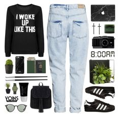 """yoins 9"" by sarahkatewest ❤ liked on Polyvore featuring H&M, Linea, Christofle, Ray-Ban, Royce Leather, Aveda, Void, adidas Originals, Threshold and Glo"