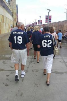 Jerseys with the year you started dating. So cute and original!
