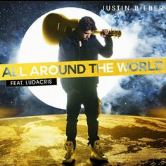 Just a boy and his guitar. Bieb's new song is actually pretty fist-pumping...