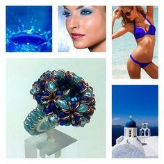 ANELLO DALIA BLU - Bellissimo come una goccia che si tuffa nel blu, come il mare, come il cielo. Azzurro, come il colore degli occhi. I miei. L'anello Dalia lo troverete  sul mio sito: http://www.raffaelladeangeli.it/accessori/278-anello-cristallo-superduo-dalia-02. A presto con altri colori!!!        #RaffaellaDeAngeli #ArtigianiItaliani #ProdottoUnico #MadeInItaly #FattoAMano #Handmade #Jewelry #Gioielli #Bijoux #Anello #Blu #Amaranto #Ring…