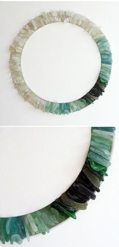 sea glass wreath - awesome something I can make with all the sea glass I've collected over the years :)
