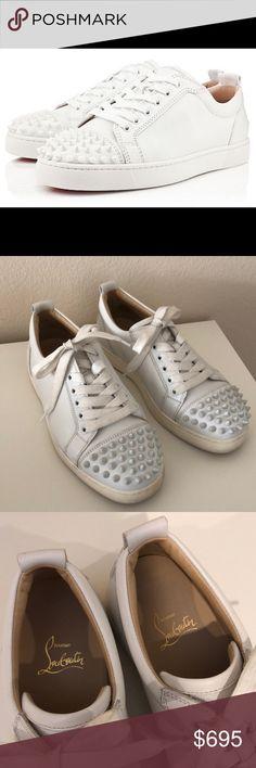 0c44d69920ae Christian Louboutin Louis Junior Spikes White 37.5 ••• Christian Louboutin  Louis Junior Spikes Size