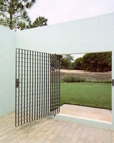 A building's entrance is the threshold between the exterior and interior, it contributes to the overall identity of the development and plays an important role in the impression and experience formed by visitors. Fence Design, Door Design, Exterior Design, Interior And Exterior, House Design, Architecture Design, Landscape Architecture, Landscape Design, Door Gate
