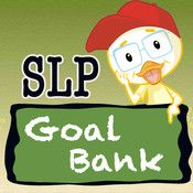 SLP Goal Bank - clinical SLP tool for creating goals and guide to appropriate intervention planning for those with speech and language delays. App for I pad Speech Language Therapy, Speech Language Pathology, Speech And Language, Speech Therapy Activities, Language Activities, Speech Room, Therapy Ideas, Teaching, Iep Meetings