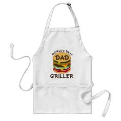 World's Best Dad Griller BBQ Theme Gift Adult Apron