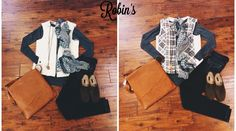Two top trends! Quilting and Plaid.  #shoprobins #boutique #fall #plaid #vest