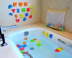 Kids Bath Toy 51 Pc Baby Toddler Floating Foam Letters Numbers Animals Vehicles #JoyinToy