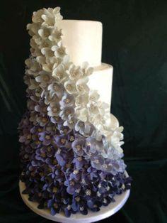 ombre flowers cake #kelticlodge