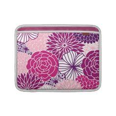 Pink and Purple Mod Floral Macbook Air Sleeve