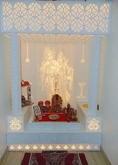 Mandir Design s Room Interior, Home Interior Design, Modern Interior, Temple Room, Home Temple, Altar, Bed Design, House Design, Temple Design For Home