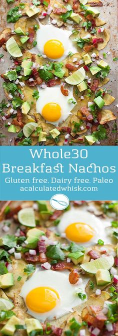 Whole30 Breakfast Nachos (Gluten free, Dairy free, Paleo)--perfect for game day or any day!