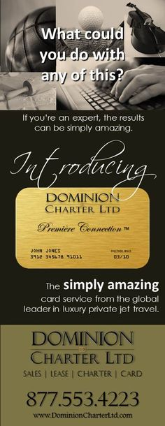It's All About the Card. #DominionCharter #PremiereConnection #iFlyPrivate
