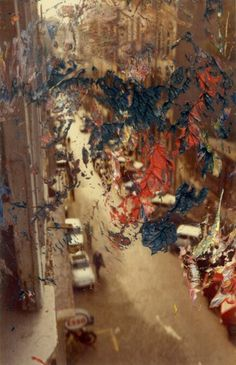 Gerhard richter - seems to be playing with perspective and the colourful swirl.