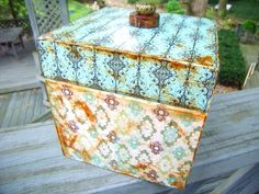 DECOUPAGE BOX Collage via Etsy.