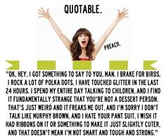 """I find it fundamentally strange that you're not a dessert person... """"New Girl"""""""