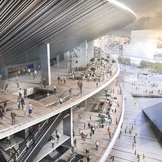Stadium Architecture, Modern Architecture, Soccer Stadium, Futuristic City, Interior Rendering, Church Design, Future City, Atrium, Facade