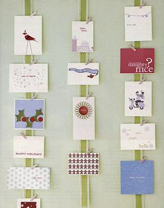 way to display cards